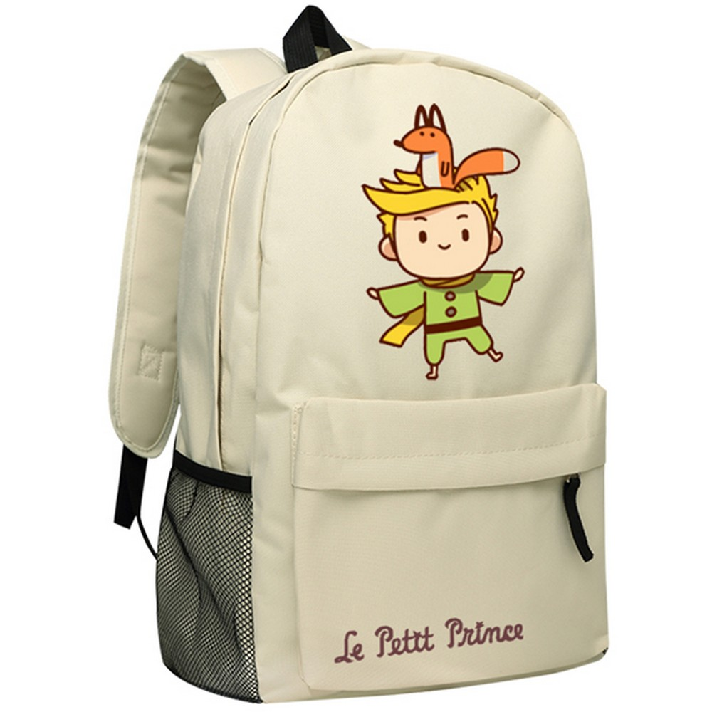 MeanCat The Little Prince Khaki Shoulder Backpack Cute Le Petit Prince School Backpacks for Boys and Girls