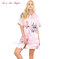 New Short Sexy Wedding Gown Women S Bathrobes Silk Robe Girl Nightgown Sleepwear Satin Bath Robes