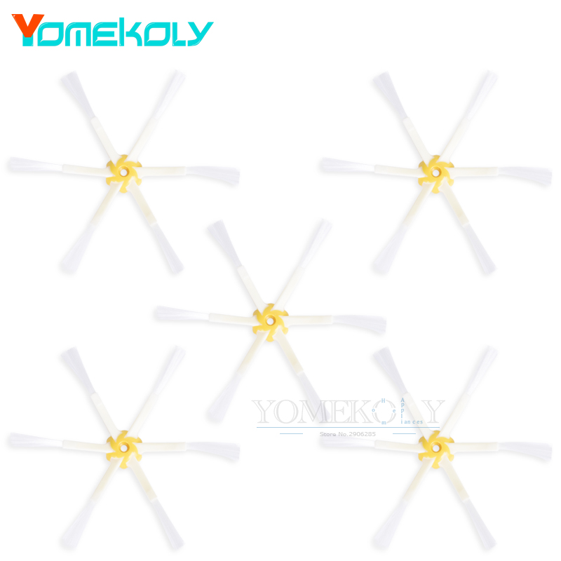 5pcs Side Brush 6-armed for iRobot Roomba 500 600 700 Series 530 540 550 560 570 580 650 760 770 780 free post new 3 pieces 6 arms sidebrush for irobot roomba 500 600 700 series side brush 550 560 570 630 650 760 770