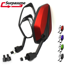 Universal Motorcycle Rear View Mirrors Motorbike Side Mirrors Red Blue Green Black for Honda Suzuki Kawasaki Yamaha BMW цена