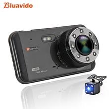 Bluavido 4 Inch Car DVR Dash Camera FHD 1080P WDR Night vision auto Video Recorder registrator with two cameras 170 Degree
