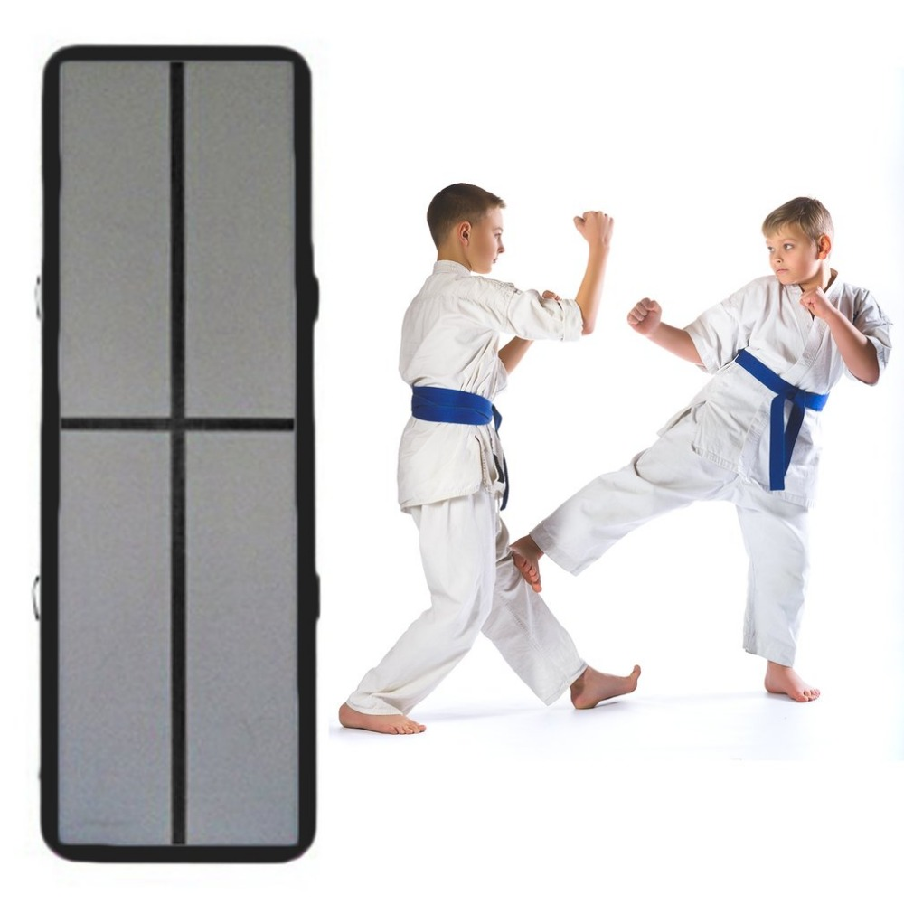 3m x 04m x 15cm inflatable mat gymnastics air track taekwondo floor tumbling martial arts