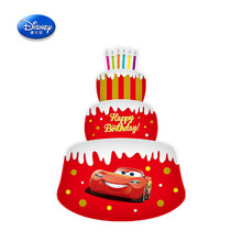 Disney Cartoon Mickey Minnie Car Inflatable Toys inflatable McQueen Aluminum foil 34 inch three layer cake Balloons