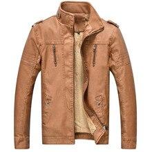 2017 heißer herbst und winter qualität männer leder warme jacke motorradbekleidung lässig männer mantel