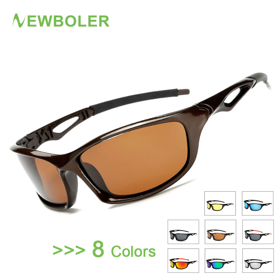 NEWBOLER Polarized Fishing Glasses Men Outdoor Sport Protection Goggles Driving Hiking Sports Sunglasses Fishing Eyewear