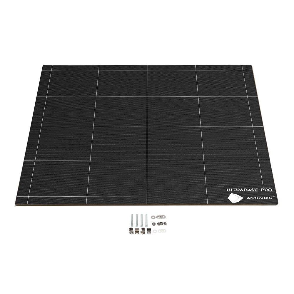 ANYCUBIC Chiron 3D imprimante Ultrabase plaque de Plate-forme de lit de chaleur facile à enlever carré 430x410mm 12 V/24 V