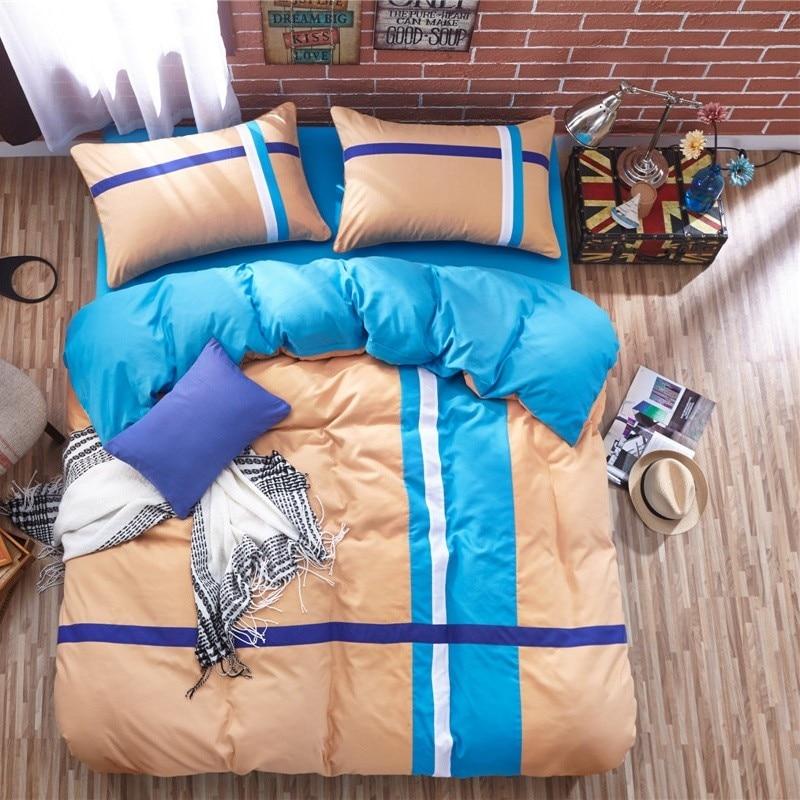 Poliészter pamut csiszoló ágynemű szett takaró fedél lapos lap - Lakástextil