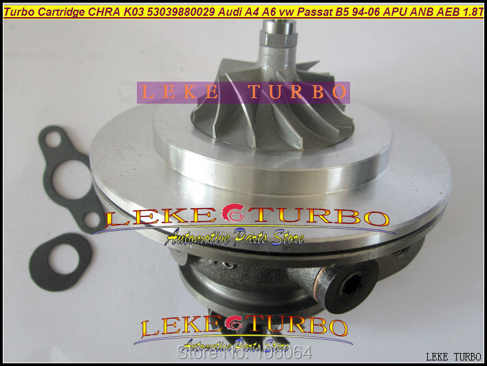 Turbo Cartridge CHRA Core K03 029 53039700029 53039880029 058145703N For AUDI A4 A6 VW Passat B5 1.8L 94- BFB APU ANB AEB 1.8T turbo wastegate actuator k03 53039700029 53039880029 058145703c for audi a4 a6 vw passat b5 1 8t amg awm atw bfb aeb 1 8l 94 06