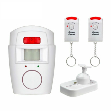 IR Infrared Motion Sensor Detector Wireless Remote Controlled Mini Alarm 105dB Loud