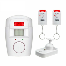 Sensor de movimento infravermelho ir detector de controle remoto sem fio mini alarme 105db sirene alta para segurança em casa anti roubo
