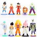 10 Pçs/lote Dragon Ball Z Super Saiyan Goku Piccolo Vegeta Celular Buu PVC Action Figure Brinquedos para As Crianças Presentes de Natal Navio Livre