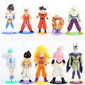10PCS/lot Dragon Ball Z Super Saiyan Son Goku Vegeta Cell Piccolo Buu PVC Action Figure Toys for Kids Christmas Gifts Free Ship