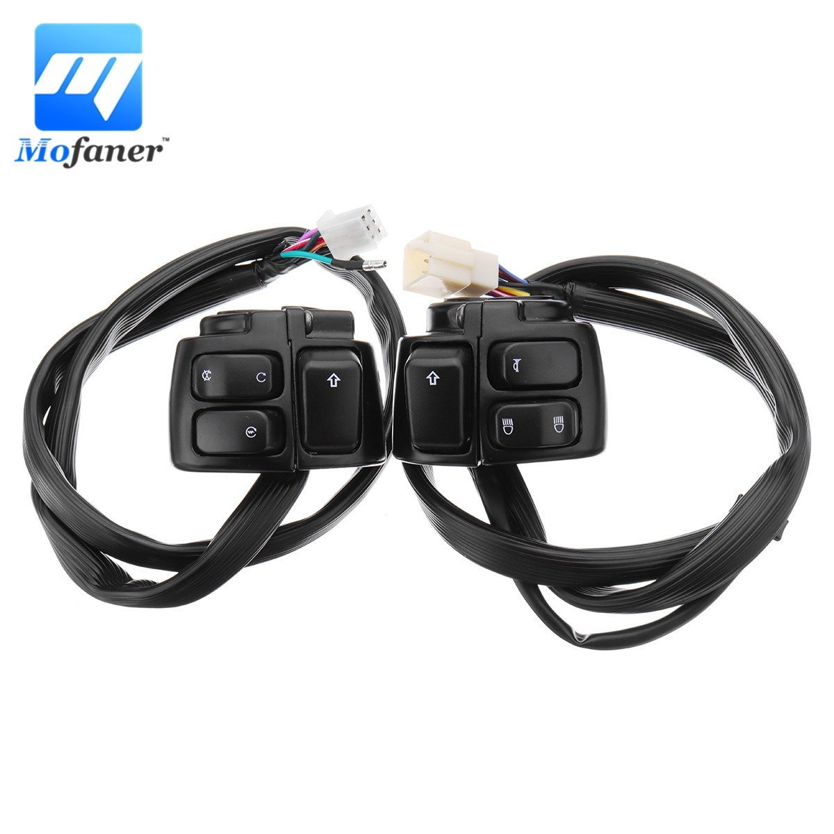 Car Styling New 2x Motorcycle 25mm 1 Handlebar Control Switch Rivco Wiring Harness Pair 125mm Turn Signal Button With