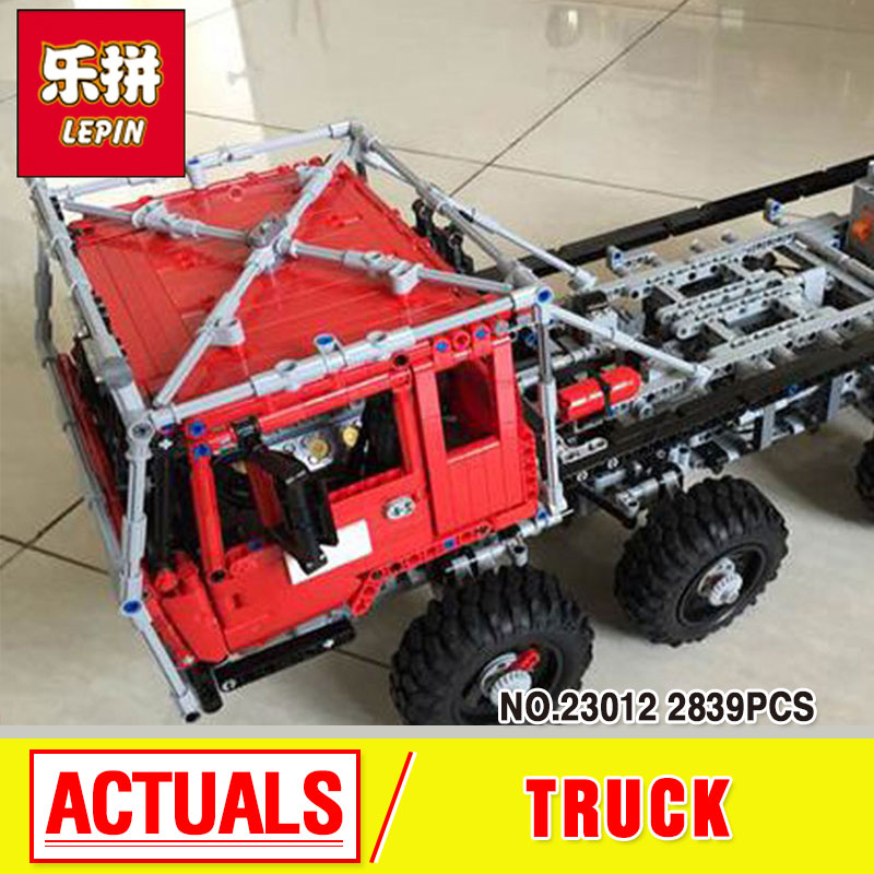 LEPIN 23012 2839pcs technic series car Model toy Building blocks Bricks for boys gift Equipped with 5 motors and 1 charging box lepin 20005 2793pcs technic series model building block bricks compatible with boys toy gift compatible legoed 42023