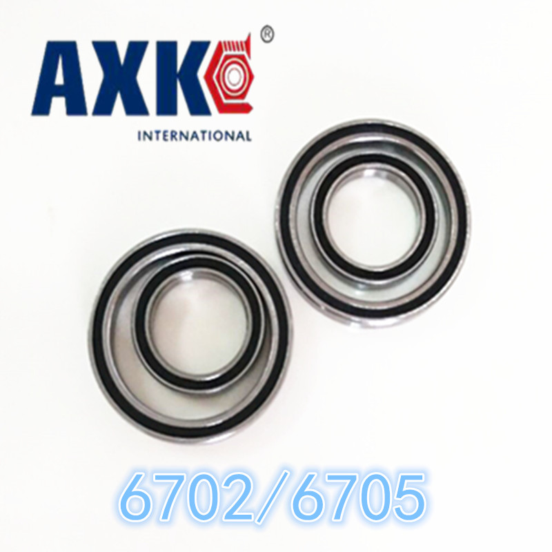 2019 Limited Time-limited Steel Axk <font><b>6702rs</b></font> 15x21x4 Mm /6705rs 25x32x4 Bearing Abec-1 ( 10pcs ) Thin Section Ball Bearings image