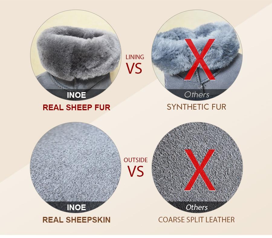 INOE Real couro de carneiro Natureza lã