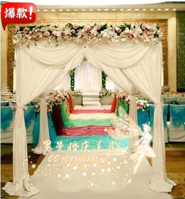 333m White Wedding Decoration Reception Hall With Stainless Steel
