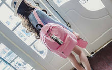 Pure Canvas Shoulder Bag Girls Sets Student Lovers women Large Capacity Travel Backpack Mother mochila rucksack(China)