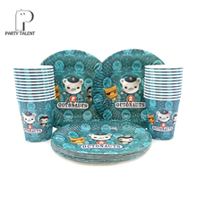 Party Supplies 48pcs Sea Octonauts Party Kids Birthday Tableware Set 24pcs Dessert Plates Dishes And 24pcs Cups Glasses