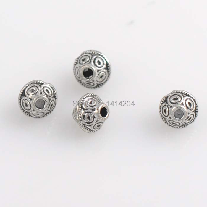 round item silver sell alloy supplies spacer making hot beads and wholesale antique jewelry