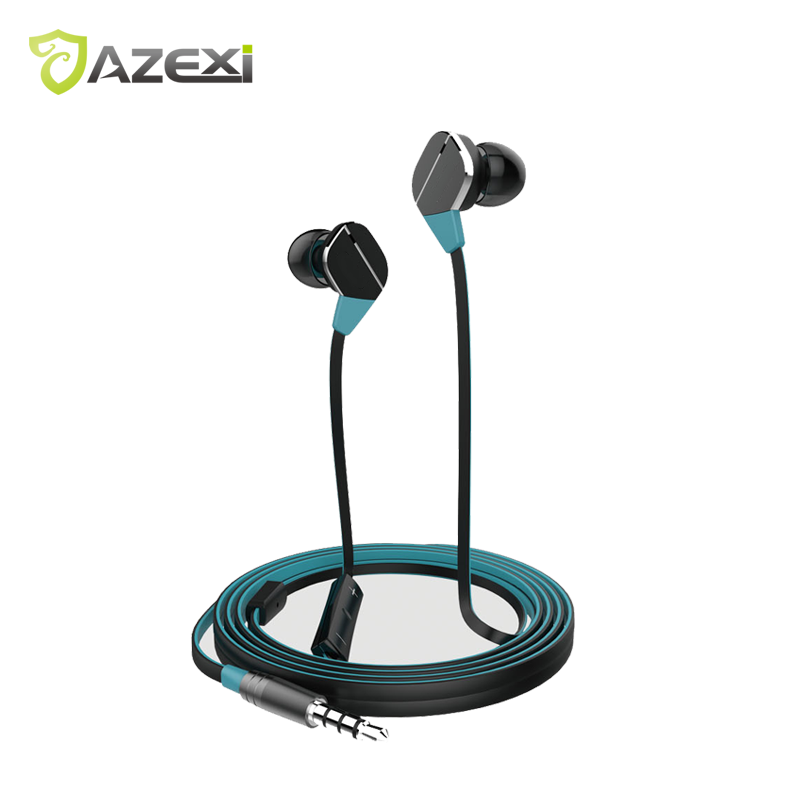 Azexi ECW-128 Fine Metal In-Ear Earphones Stereo Sound With Mic exquisite sports earphone for iPhone 7 Huawei Xiaomi Nokia original xiaomi hybrid pro in ear earphone with mic circle iron pro sports earbuds full metal hd stereo sound headset for iphone