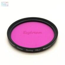 52 мм 58 мм 67 мм водонепроницаемый пурпурный Фиолетовый фильтр для подводной Камеры Gopro Xiaomi Yi Sjcam преобразования цвета 67 58 52 мм