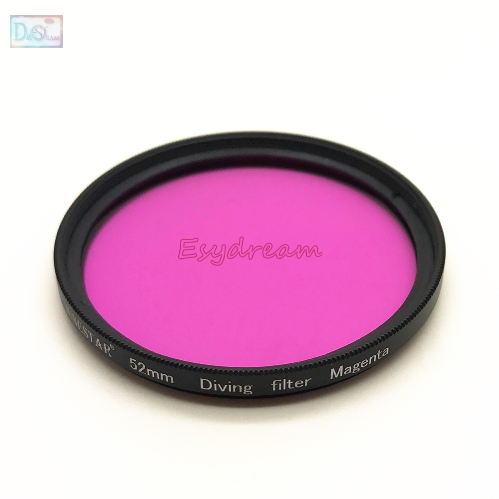 52mm 58mm 67mm Waterproof Magenta Purple Filter for Diving Underwater Camera Gopro Xiaomi Yi Sjcam Color Conversion 67 58 52 mm fat cat professional 58mm underwater color correction red magenta dive filter cpl for gopro hero3