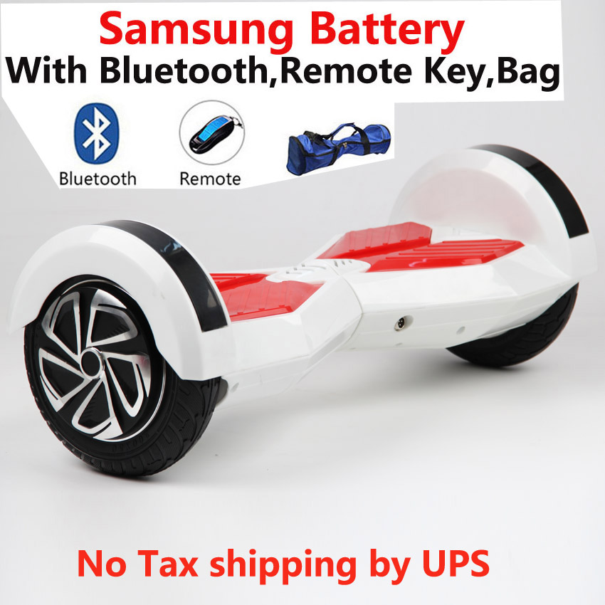 High quality 8 inch 2 wheel Samsung battery smart Self balance Electric scooter LED electric unicycle