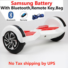 High quality 8 inch 2 wheel Samsung battery smart Self balance Electric scooter LED electric unicycle Skateboard hoverboard
