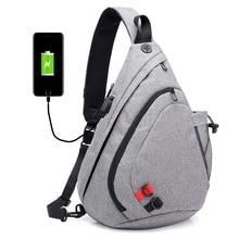 New Back Pack Travel Mens Crossbody Bags Usb Chest Bag Designer Messenger Canvas Shoulder Diagonal Package