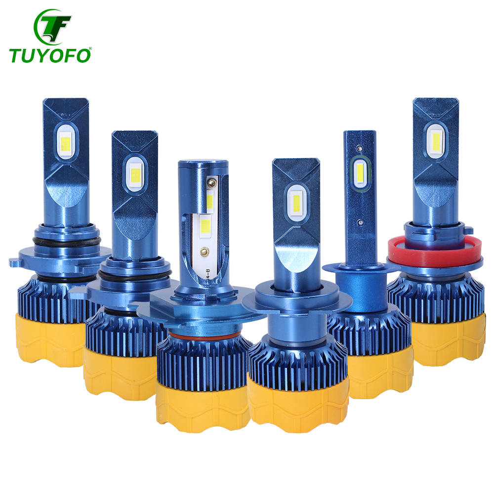TUYOFO CT7 H4 LED <font><b>12000LM</b></font>/pair 4-Sides COB Headlight H13 H11 <font><b>H7</b></font> 9005 9006 9007 9012 Beam Car Light Bulbs Head lamps image