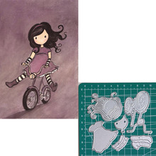 Cycling new 2019metal cutting dies doll girls for scrapbooking and making paper cards