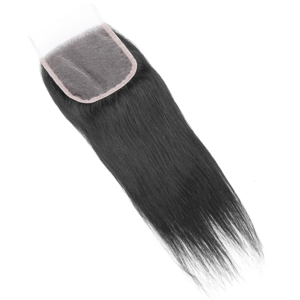 YVONNE Straight Brazilian Remy Hair Lace Closure 4x4 Free Part Human Hair Closure Natural Color Free Shipping