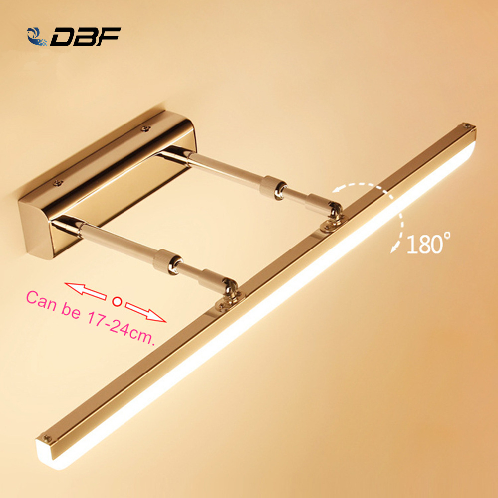 [DBF]Waterproof Sconce Bathroom Lighting Mirror Light 9W 12W 14W 90-260V Stainless Steel Modern LED Wall Lamp for Mirror Cabinet[DBF]Waterproof Sconce Bathroom Lighting Mirror Light 9W 12W 14W 90-260V Stainless Steel Modern LED Wall Lamp for Mirror Cabinet