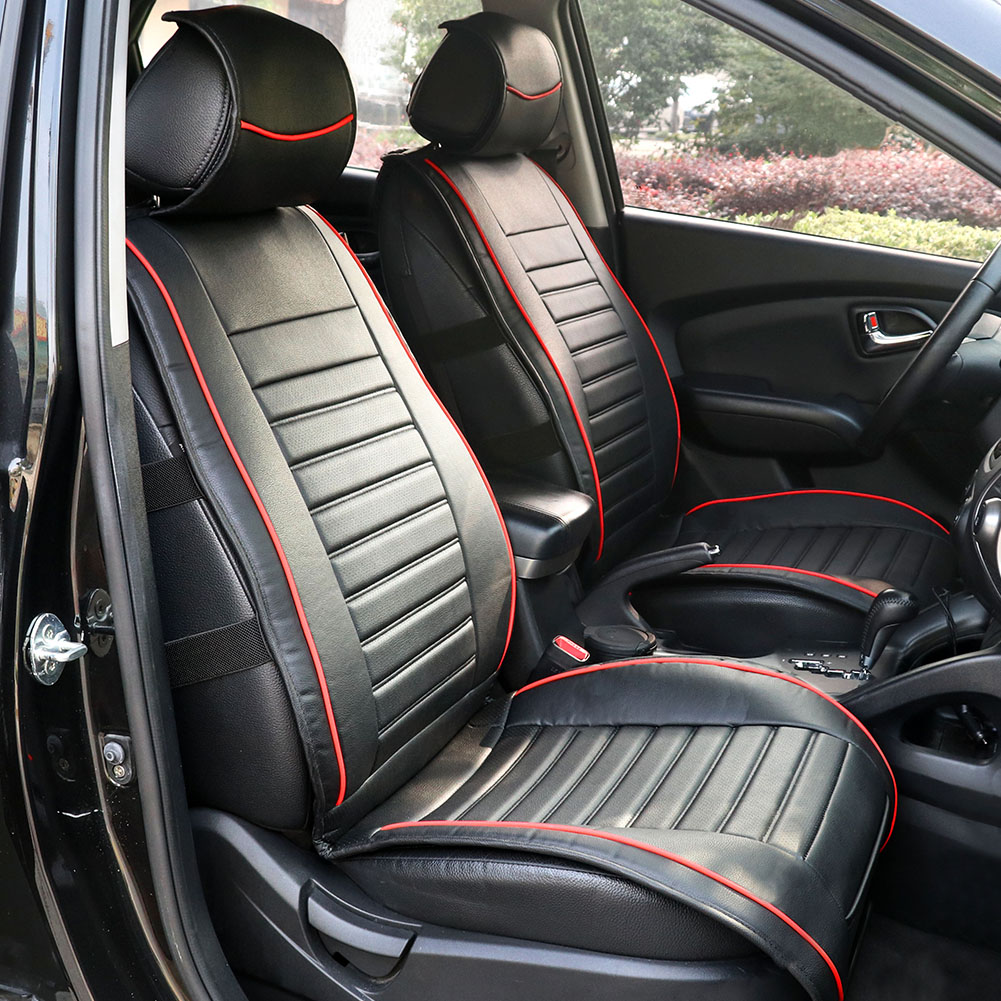 TIROL Single Piece PU Leather Universal Front Single Car Seat Covers Seat Cushion Universal Car-Styling Car Seat Protector brand new styling luxury leather 5 color 3d car seat covers front