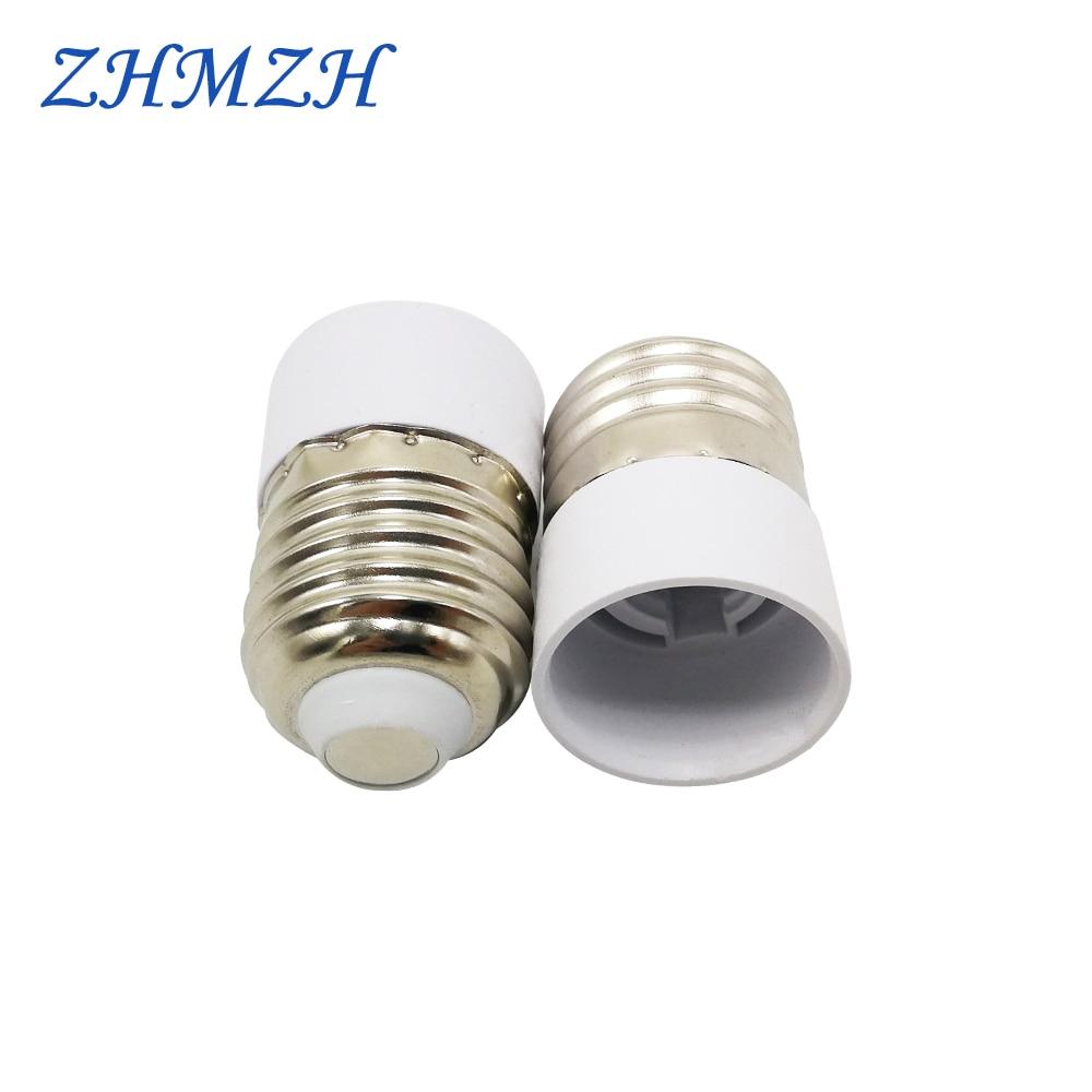 2pcs/lot E27-E14 Lamp Holder Converter E14 Lamp Socket Adapter E27 Lamp Base Fireproof Material Screw Mouth Lamp Socket Changer