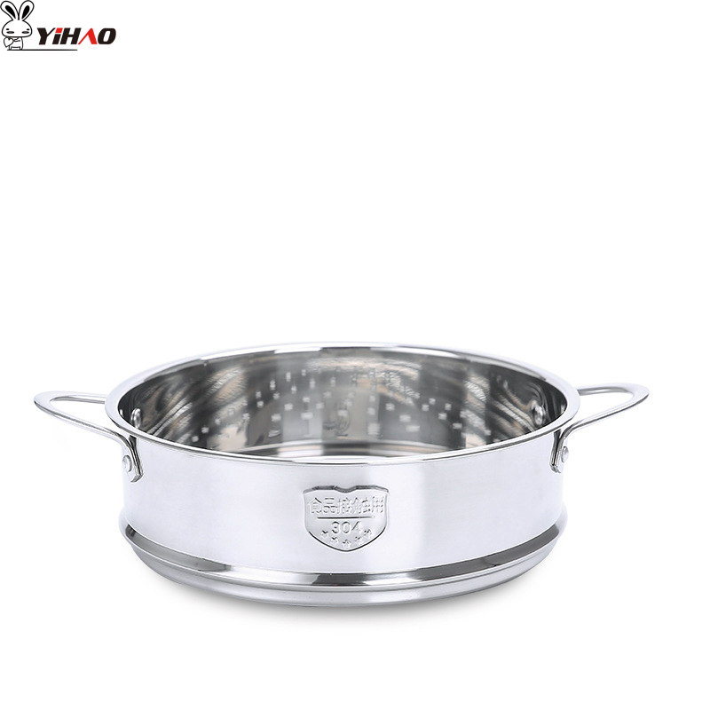 YIHAO 16CM 18CM 20CM High Quality Hot Sale 304 Stainless Steel Thickened Double Ear Steamer Steamer