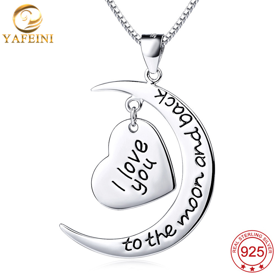 Yafeini 925 Sterling Silver Wholesale I Love You To The