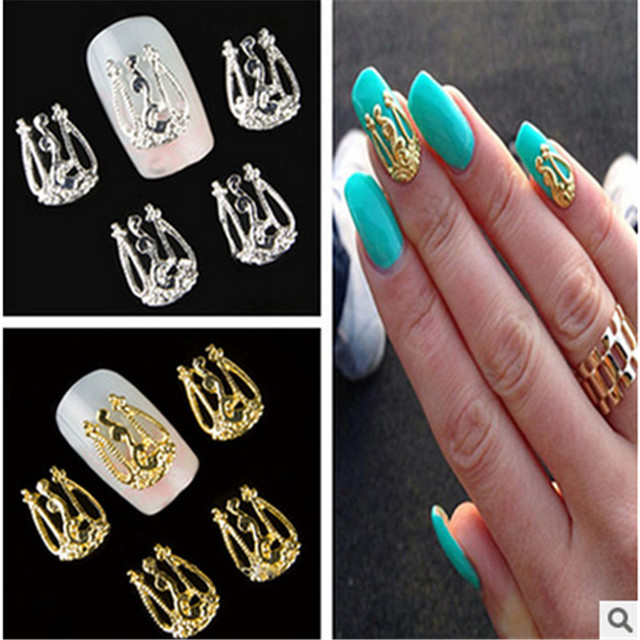 10 Stücke 3d Hohl Nail Art Tipps Dekoration Glitter Str Uv Gel Deco