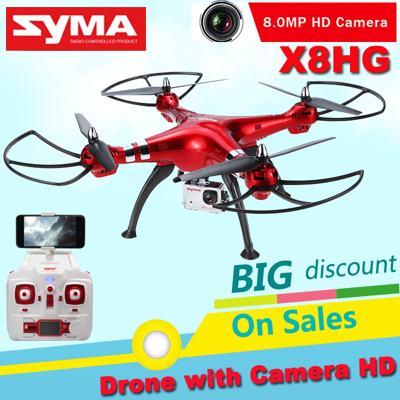SYMA X8HG Drone with Camera 8MP Headless Mode 6 Axis Gyro 2.4GHz 4CH Quadcopter 360 Degree Rollover Function One Key Return RTF