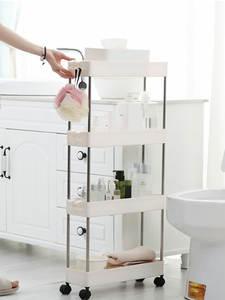 Storage-Rack Wheels Slide-Tower Saving-Organizer Bathroom-Shelf Movable Space Plastic