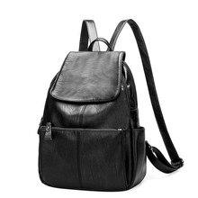 Известный люксовый бренд Для женщин Рюкзаки Настоящая кожа Женский Большой Ёмкость рюкзак черный мешок школы для подростков Meninas дорожная сумка