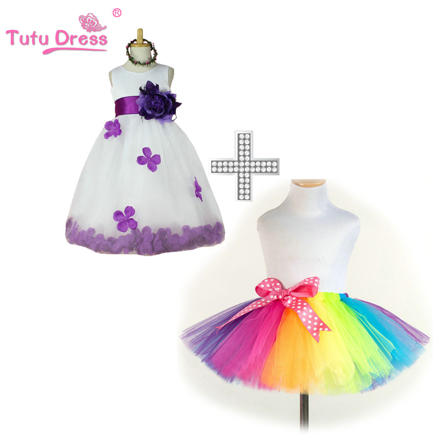 New Fashion Petal Flower Girl Dress Party Birthday Wedding Princess Toddler baby Girls Clothes Children Kids Girl Dresses new high quality fashion excellent girl party dress with big lace bow color purple princess dresses for wedding and birthday