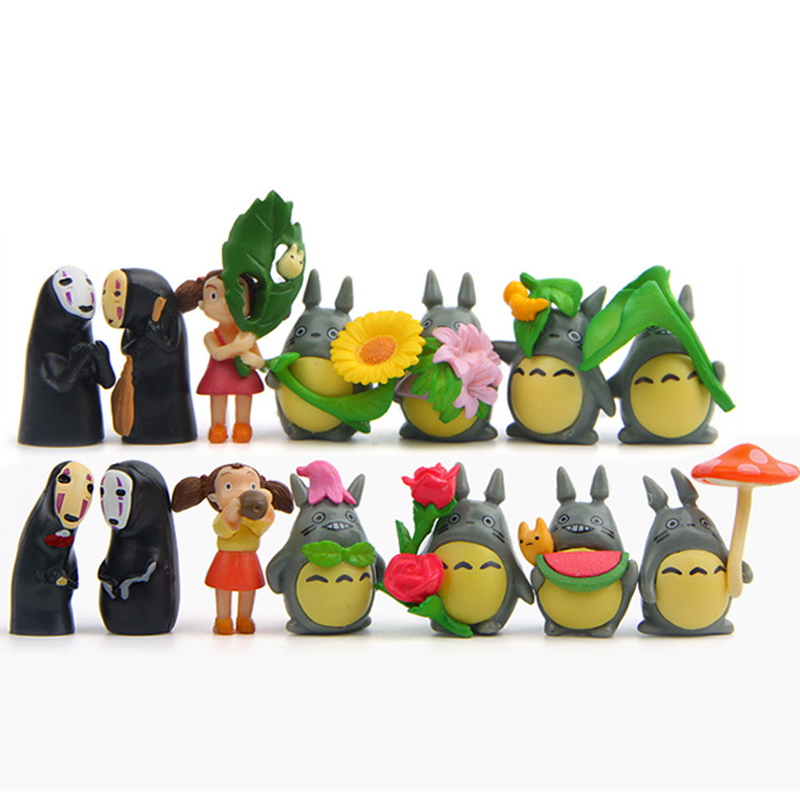 10pcs//lot Spirited Away miniature figurines toys cute lovely Kids Toy FF
