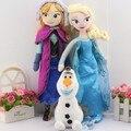 3 unids/set 40 CM Anna Elsa olaf Peluches 20 CM de peluche + princesa Elsa Anna Muñeca de la Felpa de la felpa Brinquedos Niños Envío libre del Juguete gratis