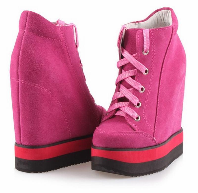 2017 Sexy Feminino Tenis Red Damen black Frau High Casual Dicken Heels Mujer Zapatos Schuhe Plattform Boden Frauen Höhe Zunehmende prqfdwpxa