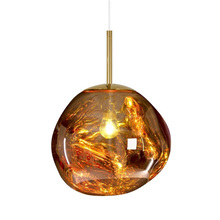 Modern Magic Lava Pendant Lights Tom Dixon Melt Glass Transparent Pendant Lamp Classic Originality Hanglamp Parlor  Lamp