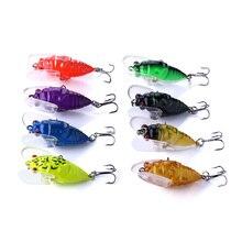 цены 200pcs 4CM 6.4G hard plastic fishing lures cicada insect pike peche bass fishing baits isca pesca fishing tackles