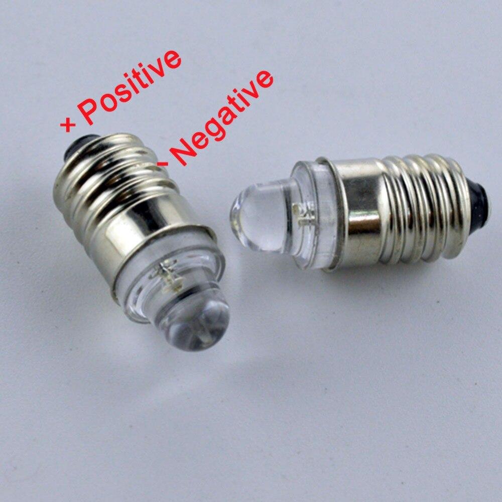 2pcs 3V E10 Screw Warning signal bulb 20lm Instrumentation led Warm White 4300K White 6000K