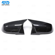 F30 F20 Carbon Look AN Mirror Cover For BMW M235i f31 F21 F22 F34 X1 E84 M2 F87 F32 F33 F36 RearView Mirror Cover gloss black universal replacement carbon fiber mirror cover for bmw rearview door mirror covers x1 f20 f22 f30 gt f34 f32 f33 f36 m2 f87 e84